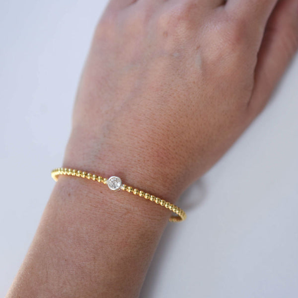 Gold Tone Open Bangle