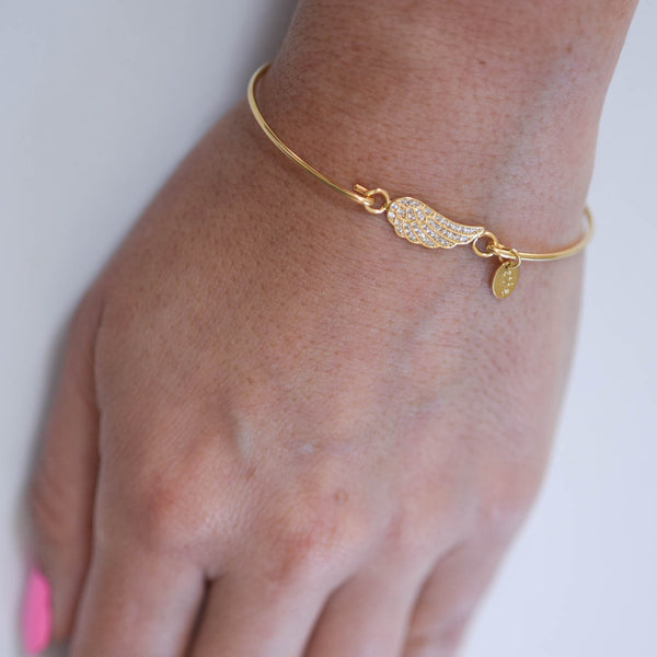 Gold Toned Angel Wing Bracelet