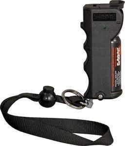 Black Handheld Pepper Spray with wrist strap thumbnail