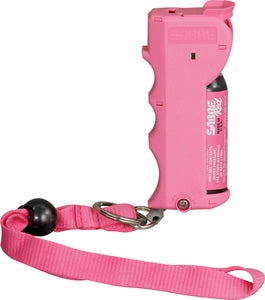 Handheld Pepper Spray with wrist strap in Pink thumbnail