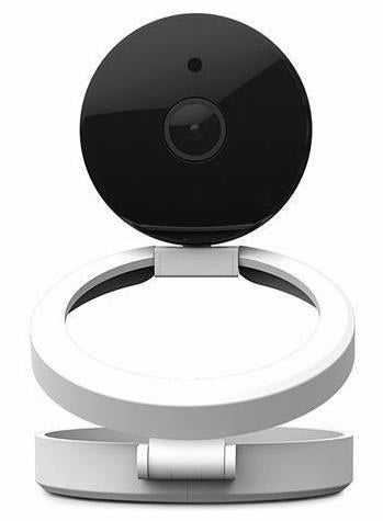 Black and White work of art design security camera front view