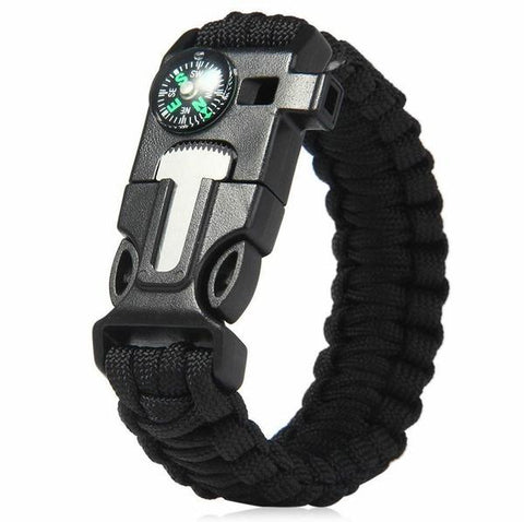 Paracord Protection Bracelet - All Black