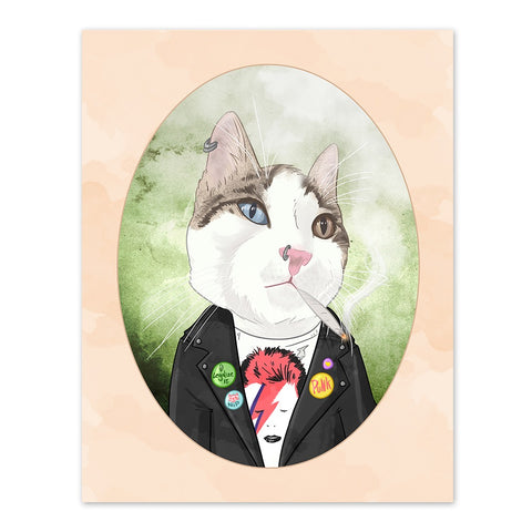 Chaz the Punk Ass Feline - 8x10 Cat Print