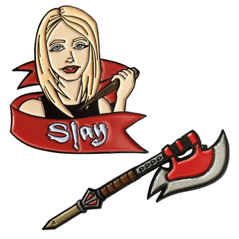 Buffy the Vampire Slayer Inspired Enamel Pin Set