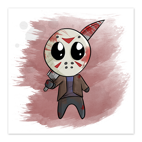 Lil Jason - Chibi Horror Film Fan Art - 8x8 Print