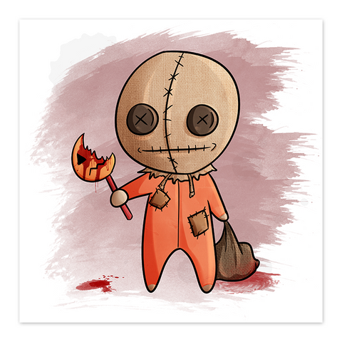Lil Sam - Chibi Horror Film Fan Art - 8x8 Print