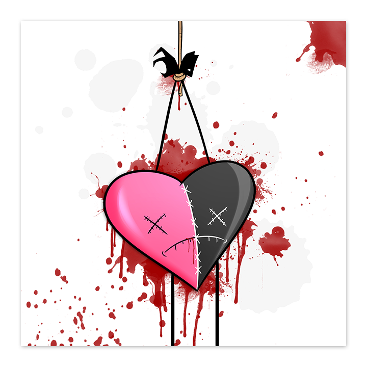 Dead Heart - Strung Up - 8x8 Print