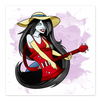 Marceline, Vampire Queen - Adventure Time Fan Art - 8x8 Print