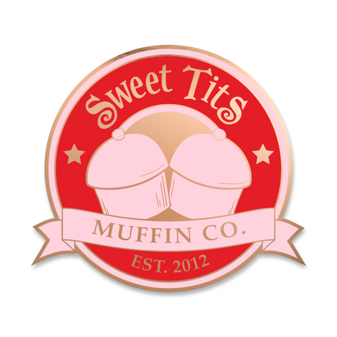Sweet Tits Emblem - LTD Rose Gold - Hard Enamel Pin