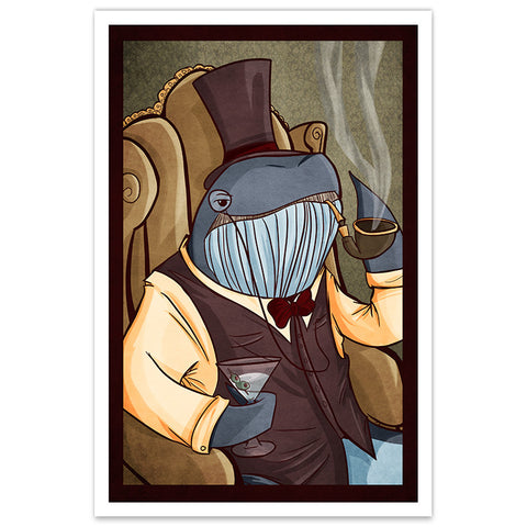 Dapper Whale - 12x18  Print - [product_vender] - Corvink