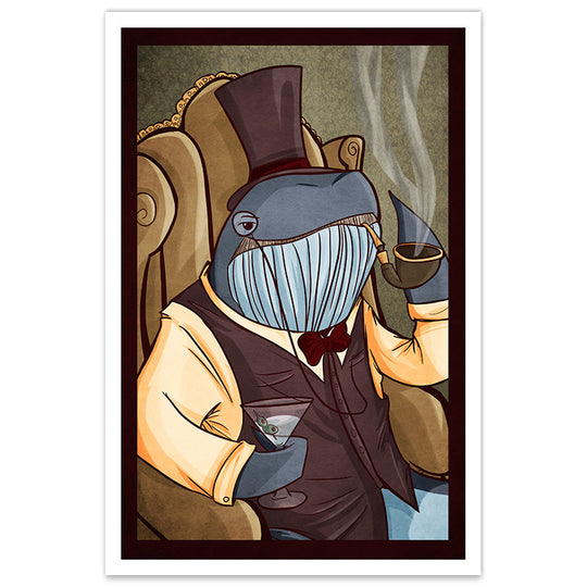 Dapper Whale - 20x30 Poster - [product_vender] - Corvink