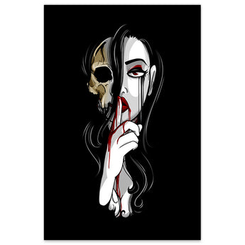 Death is Silent - 12x18 Print - [product_vender] - Corvink