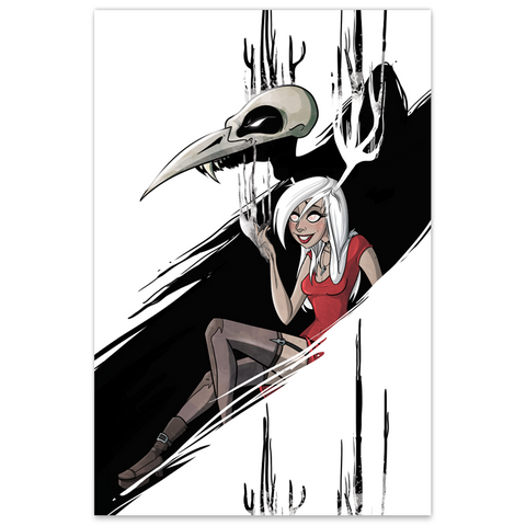 Necrowmancer - Monsters & Dames - ECCC 2016 Con Exclusive - LTD 12x18 Print [Metallic Linen]