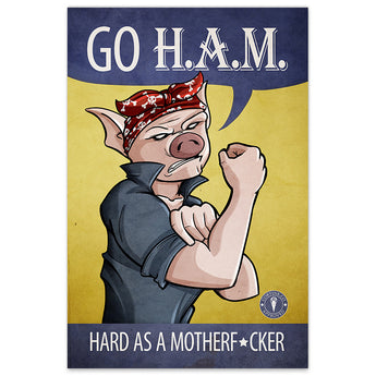 GO H.A.M. - 20x30 Poster - [product_vender] - Corvink