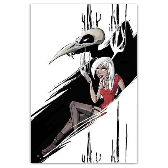 Necrowmancer - Monsters & Dames 2015 - 12X18 Print - [product_vender] - Corvink