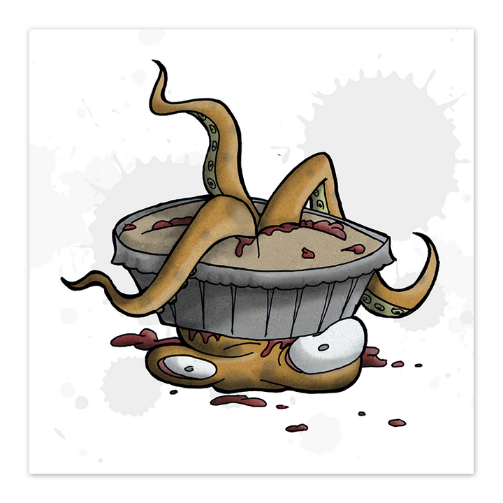 Octopus Pie - 8x8 Print - by Denis Caron - [product_vender] - Corvink