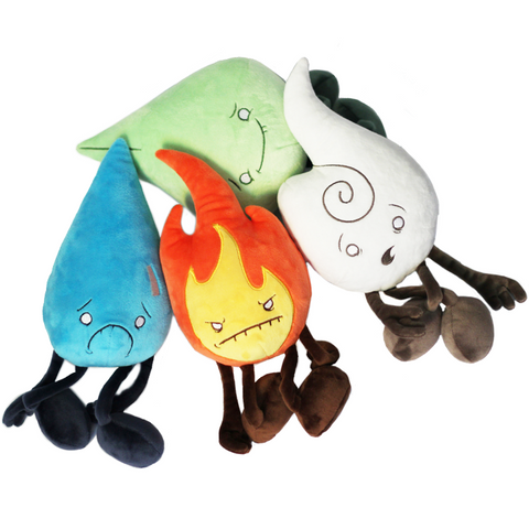 Plush Elements - Air, Earth, Fire, Water - Raven Stitch Plush Toy Set (1st Edition)