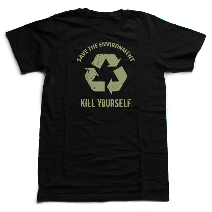 Save the Environment, KYS - LTD Black - Unisex Shirt (Black Label) [III]