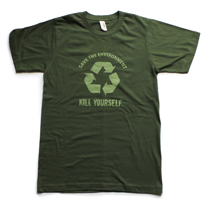 Save the Environment, Kill Yourself - Unisex Shirt - [product_vender] - Corvink