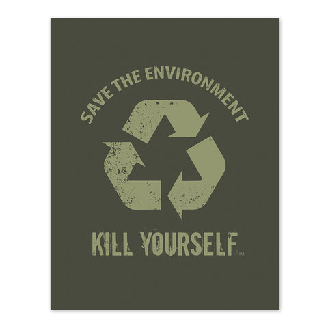 Save the Environment, KYS - Logo - 8x10 Print