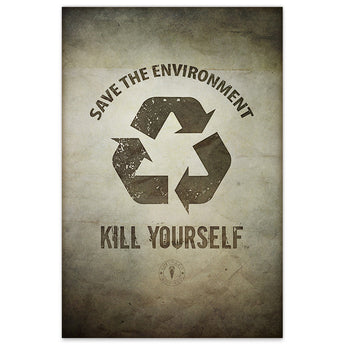 Save the Environment, Kill Yourself - 12x18 Print - [product_vender] - Corvink