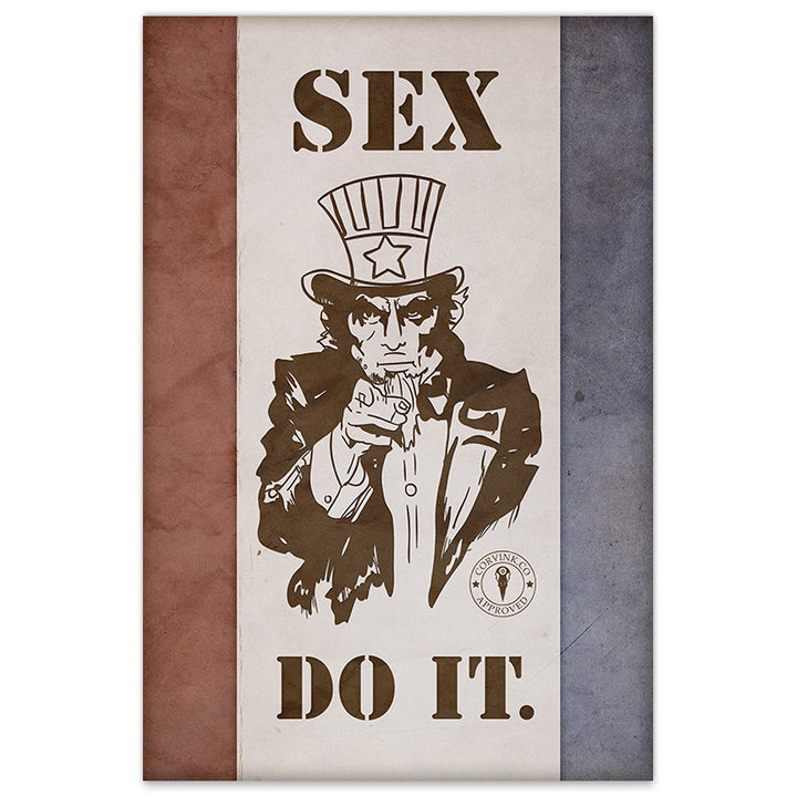 Uncle Sam Sex, DO IT - 20x30 Poster - [product_vender] - Corvink