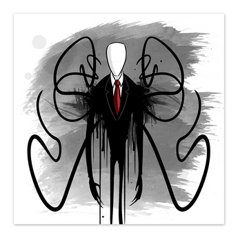 Slender Man  - 8x8 Print - by Denis Caron - [product_vender] - Corvink