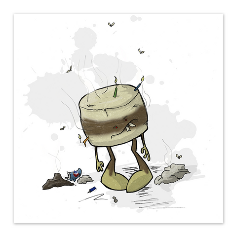 Stench Cake - 8x8 Print - by Denis Caron - [product_vender] - Corvink