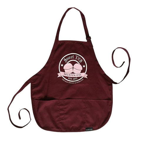 Sweet Tits Muffin Co. Apron (Black Label) [III] - MAROON