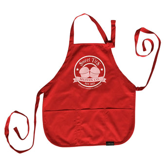 Sweet Tits Muffin Co. Apron (Black Label) [III] - (Red, Maroon or Black)
