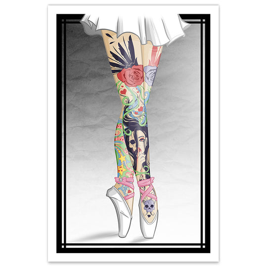 Tattooed Ballerina Legs - 12x18 Print - [product_vender] - Corvink