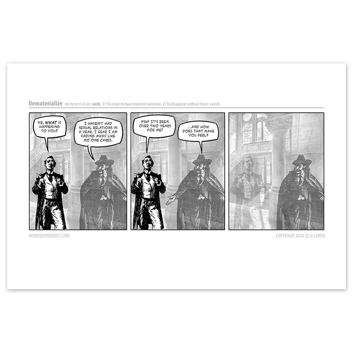 Words of Interest - Dematerialize  - Comic Print - [product_vender] - Corvink