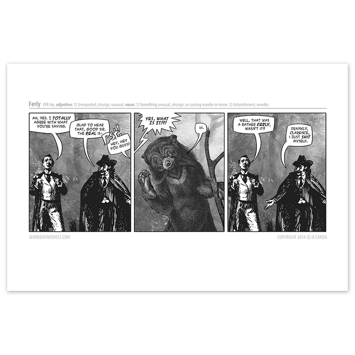 Words of Interest - Ferly  - Comic Print - [product_vender] - Corvink