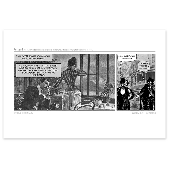 Words of Interest - Portend  - Comic Print - [product_vender] - Corvink