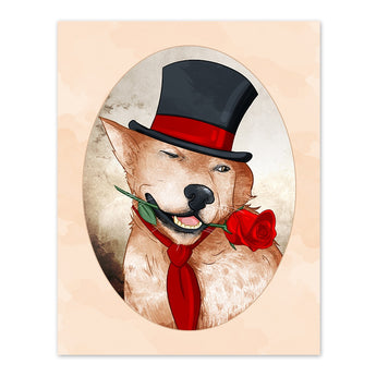 Winslow the Whimsical Wooer - 8x10 Dog Print