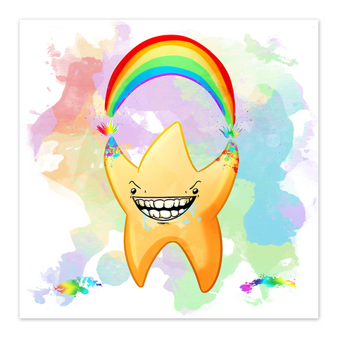 Rainbow Explosion - You're a Star - 8x8 Print