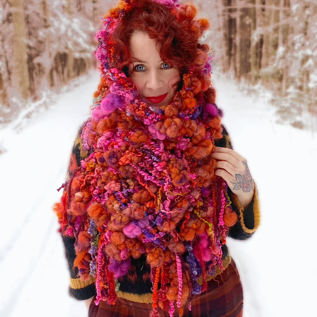 The Fiery Rose Scarf