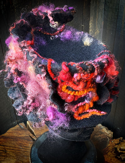 Felted top hat