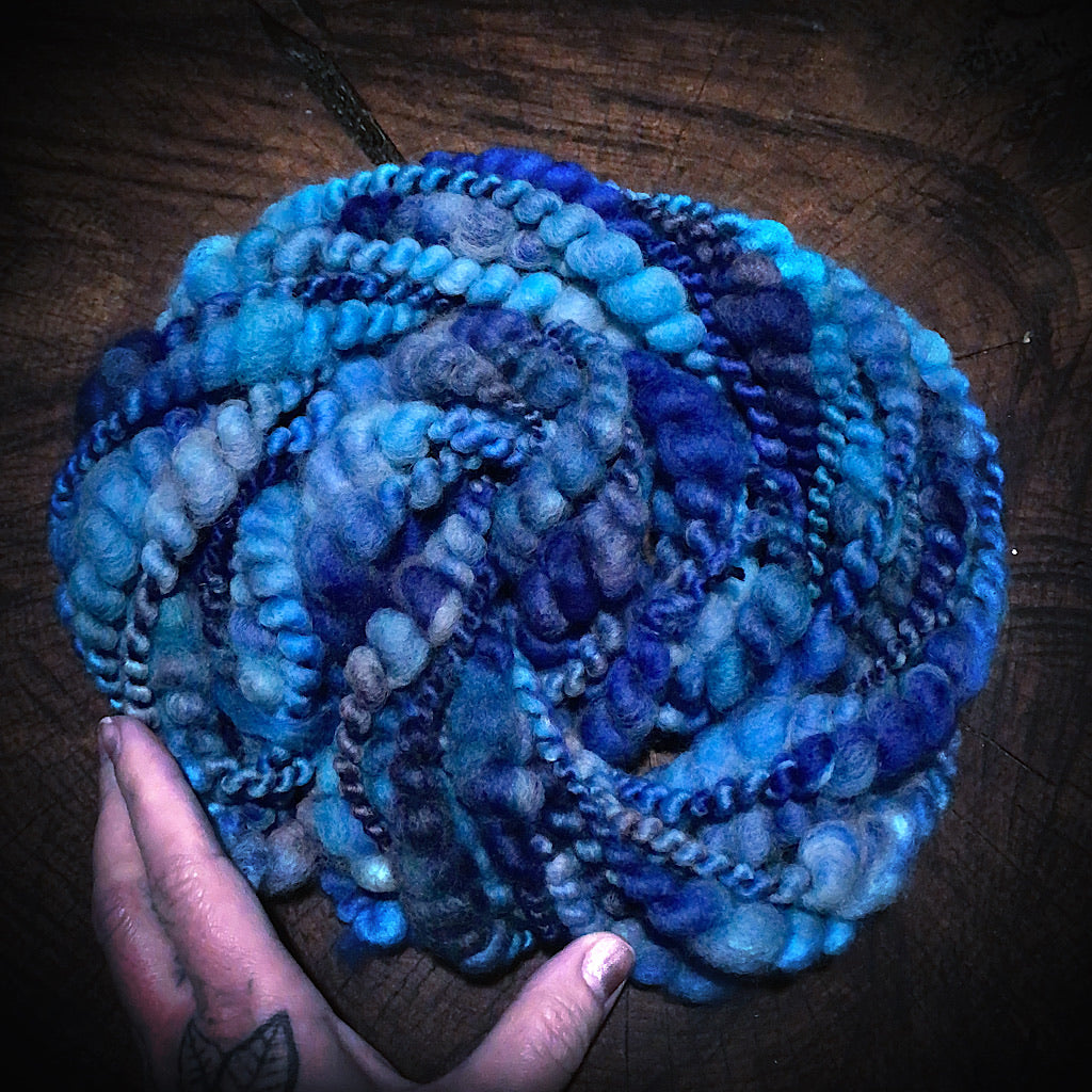 Lady Blue - hand spun yarn