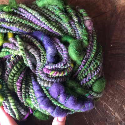 Green - Purple art yarn  100g 29y - Mynoush