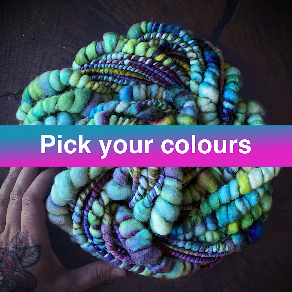 Custom Extreme was thick and thin yarn - Pick your colours