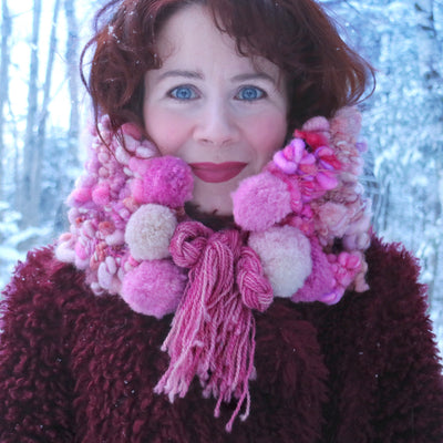 Pink cowl Col rose - Mynoush