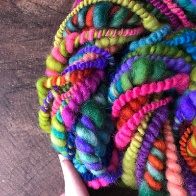 Rainbow green art yarn 100g - Mynoush