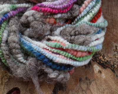 Pastel grey art yarn with eco wool 100 grams 14 yards - Mynoush