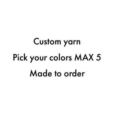 Custom Jumbo spiral yarn - Pick your colours
