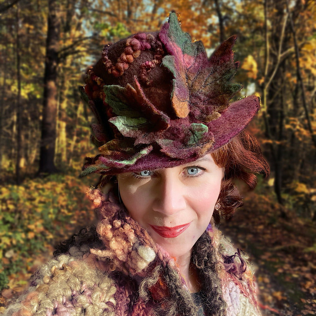 Legend of fall Felted hat