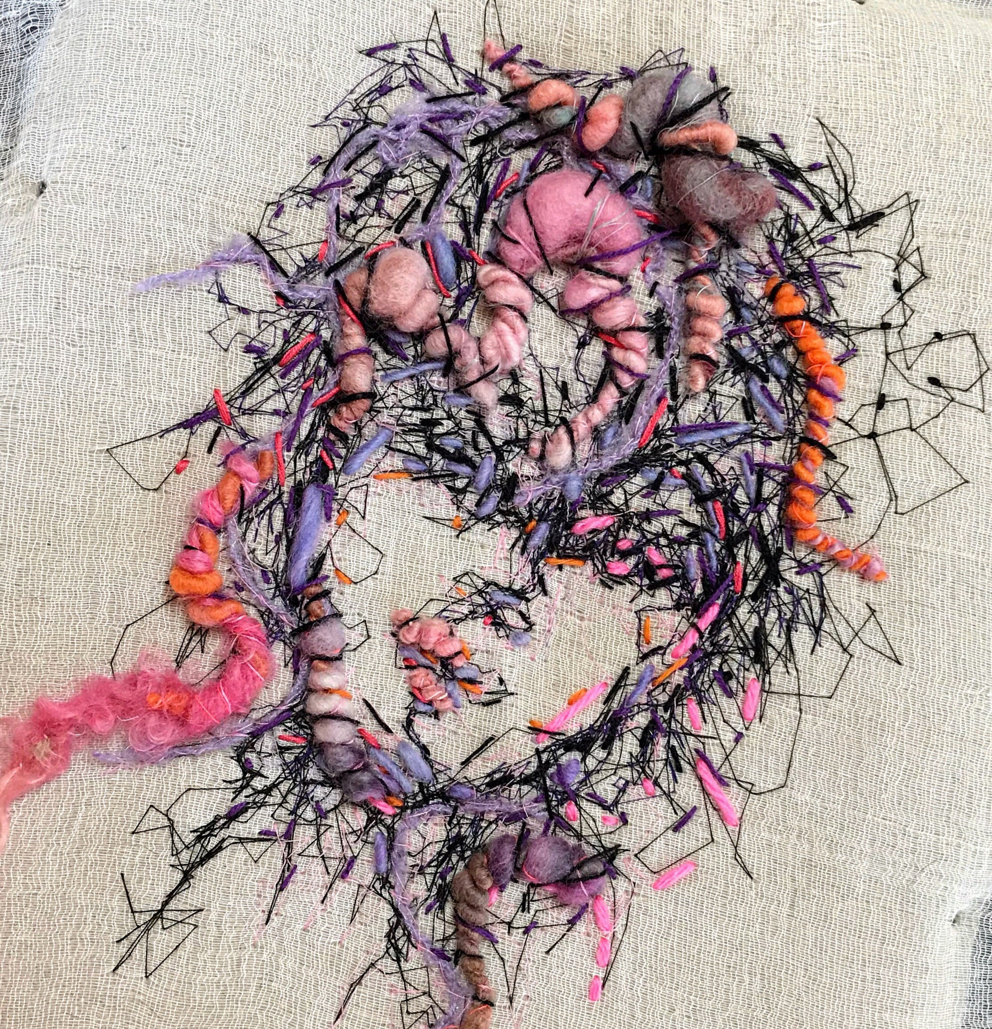 Embroidered portrait #1 - Mynoush