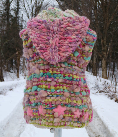 Pink sleeveless knit vest - Mynoush
