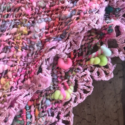 Roses - hand woven shawl