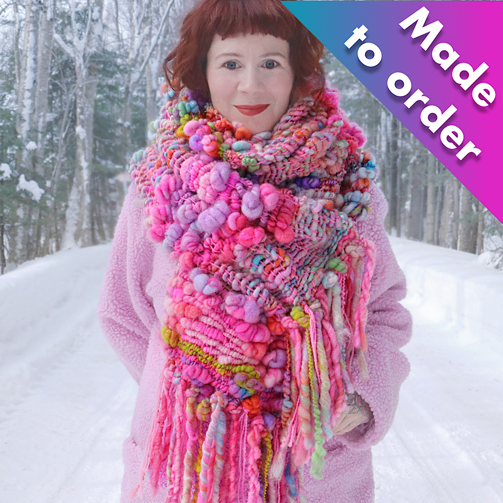 The Pink woven Scarf - Made to order